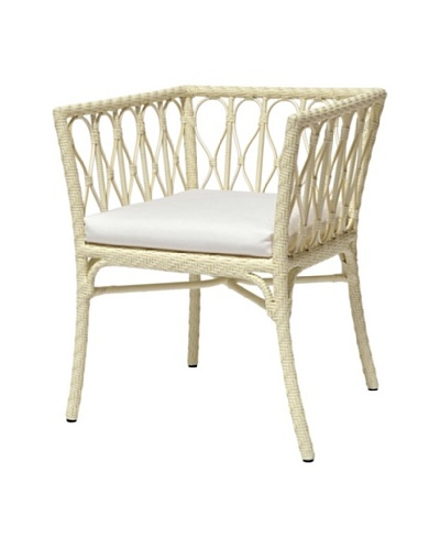Palecek Sari Outdoor Chair, Ivory/Cream