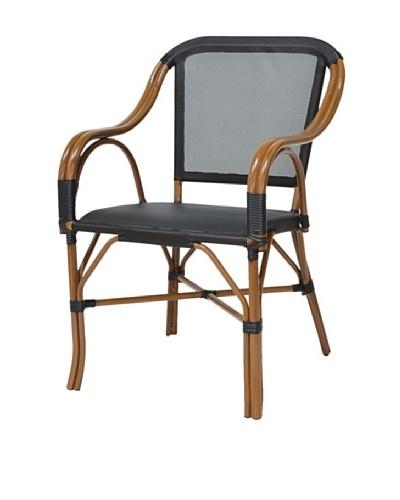 Palecek Indoor/Outdoor Pario Terrace Chair, Black/Natural