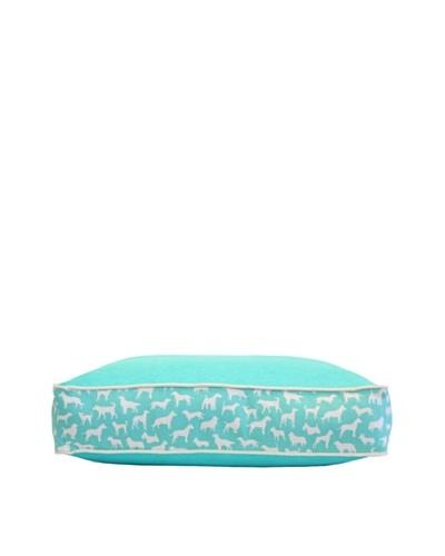 Harry Barker Kennel Club Rectangular Bed, Turquoise, Medium