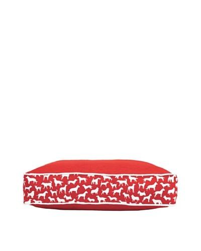 Harry Barker Kennel Club Rectangular Bed, Red, Medium