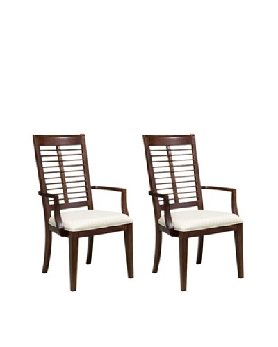 Panama Jack Eco Jack Set of 2 Slat Arm Chairs