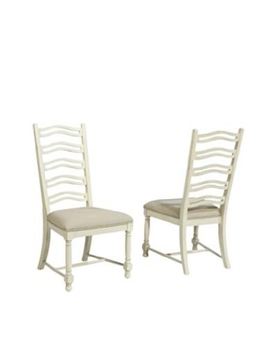 Panama Jack Coronado Set of 2 Side Chairs, White