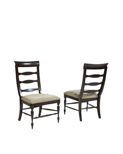 Panama Jack Old Havana Set of 2 Slatted Back Side Chairs
