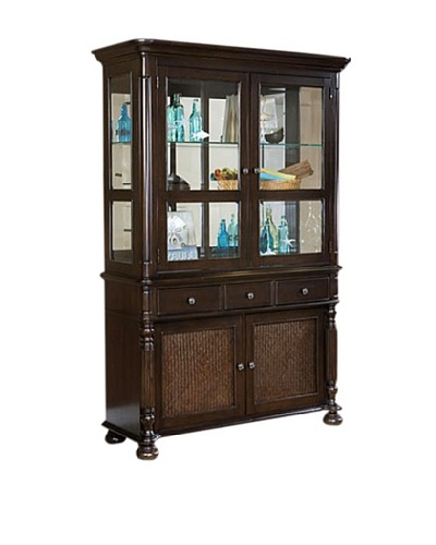 Panama Jack Old Havana China Cabinet, Base and Hutch