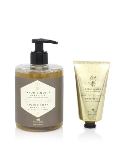 Panier des Sens Organic Honey Liquid Soap and Hand Cream, Set of 2