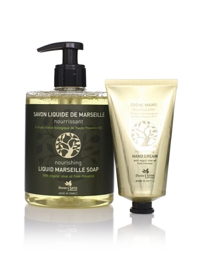 Panier des Sens Organic Olive Oil Liquid Soap & Hand Cream, Set of 2