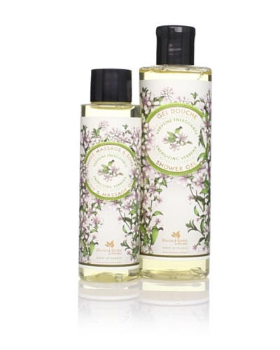 Panier des Sens Energizing Verbena Shower Gel and Massage Oil, Set of 2