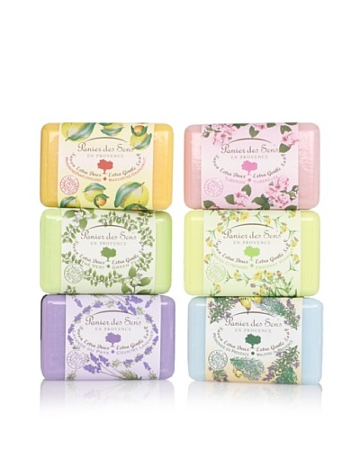 Panier des Sens Extra Gentle Vegetable Soaps, Set of 6