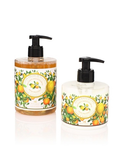Panier des Sens Soothing Oils from Provence Liquid Soap and Hand and Body Lotion, Set of 2