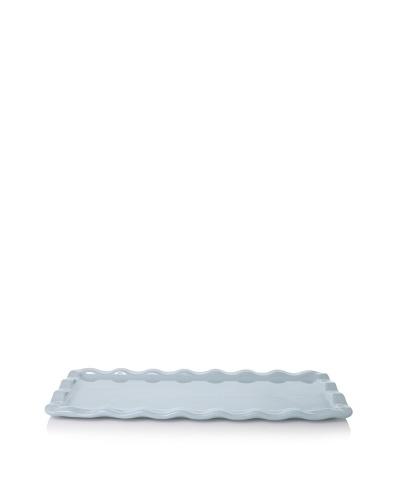 Emile Henry Ruffled Rectangular Platter, Sky