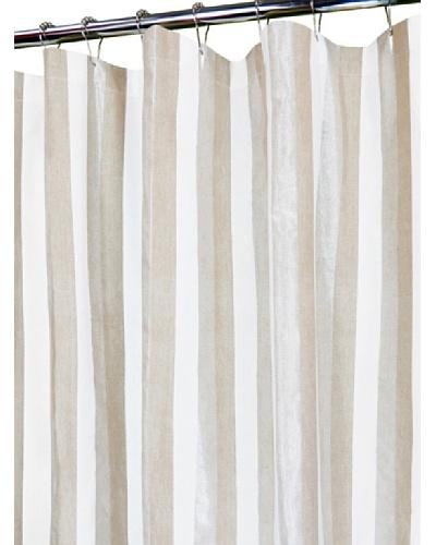 """Park B. Smith Ottavia Shower Curtain, Linen/White, 72"""" x 72"""""""