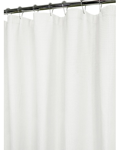 Park B. Smith Organic Spa Shower Curtain, Bright White, 72 x 72