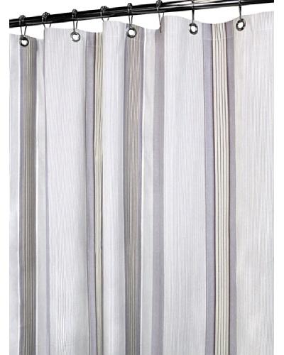 Park B. Smith Plum Stripe Shower Curtain, Plum, 72 x 72