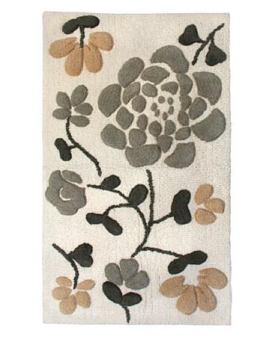 Park B. Smith Asian Garden Bath Rug, Natural/Linen, 24 x 40