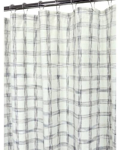"Park B. Smith Strie Check Shower Curtain, Ivory, 72"" x 72"""