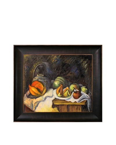 Paul Cézanne Still Life with Melons and Apples Painting with Veine D' or Bronze Scoop by Cezanne
