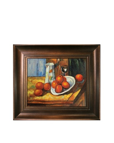 Paul Cézanne Cezanne Bricoo Bicchiere e Piato Artwork with Da Vinci, Aged Auburn Finish