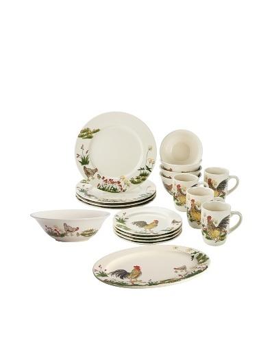 Paula Deen Southern Rooster 18 Piece Dinner & Serveware Set