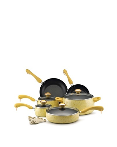 Paula Deen 15-Piece Porcelain Cookware Set [Butter]