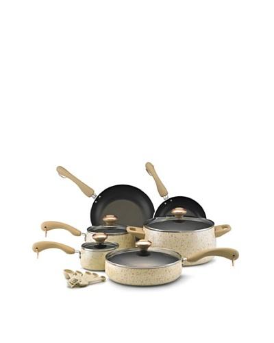 Paula Deen 15-Piece Porcelain Cookware Set [Oatmeal]