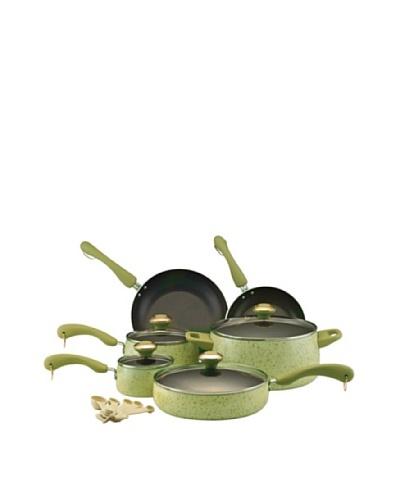 Paula Deen 15-Piece Porcelain Cookware Set [Pear]
