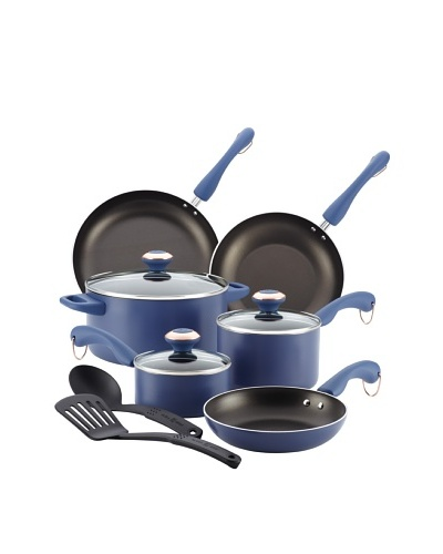 Paula Deen Signature Aluminum Nonstick Dishwasher Safe 11-Piece Cookware Set [Blueberry]