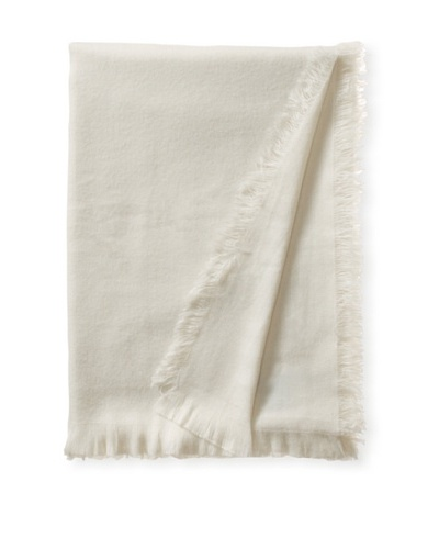 pür by pür cashmere Tissu Tissu Throw, Crème