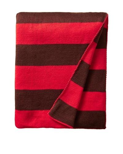 pür by pür cashmere Orange/Coffee Jacquard Stripe Throw