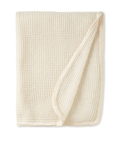 pür cashmere Thermal Knit Throw, Crème, 50 x 70