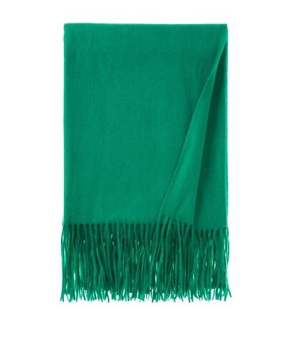 pür cashmere Signature Throw, Emerald, 50 x 65