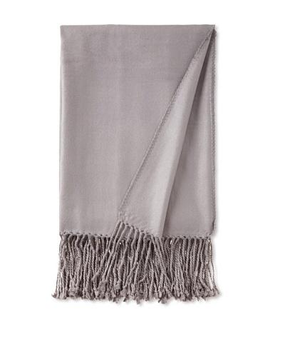 pür cashmere Viscose Bamboo Throw, Steel, 50 x 65