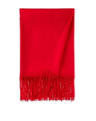 pür cashmere Signature Throw, Red Lipstick, 50 x 65