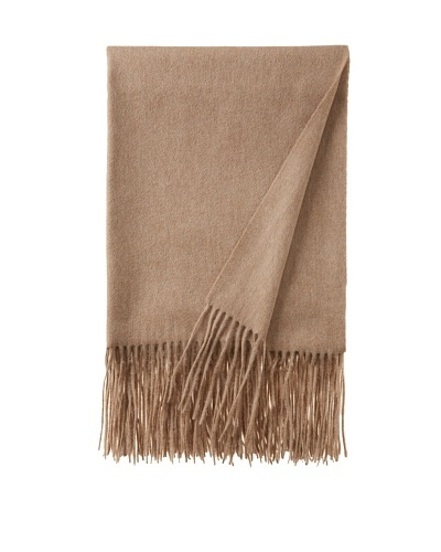 pür cashmere Signature Throw, Sand, 50 x 65