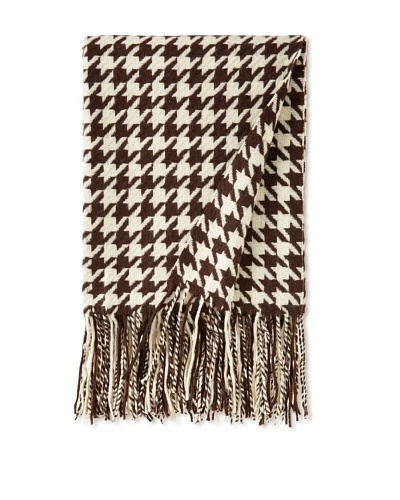 pür cashmere Houndstooth Throw