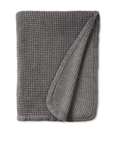 pür cashmere Thermal Knit Throw, Heather Grey, 50 x 70