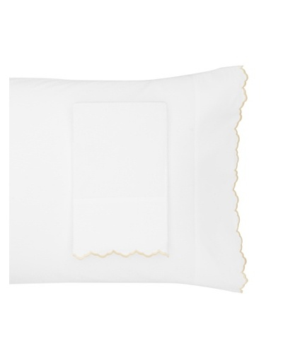 Peacock Alley Calypso Percale Cotton Pillow Cases [Sand]