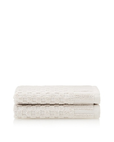 Peacock Alley Set of 2 Monaco Washcloths [Linen]