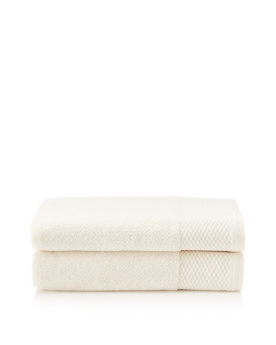 Peacock Alley Set of 2 Cimmo Bath Towels [Ivory]