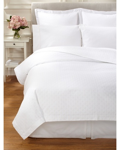 Peacock Alley Villa Matelassé Coverlet [White]
