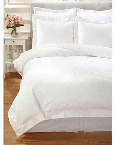 Peacock Alley Riviera Duvet Cover Set [Ivory]