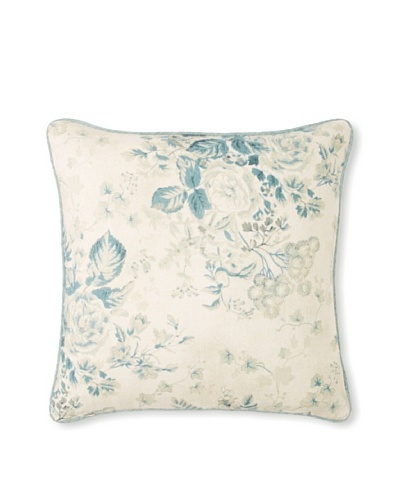 Peacock Alley Laurel Pillow, Blue