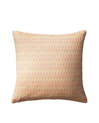 Peacock Alley Grimaldi Square Pillow, Flame