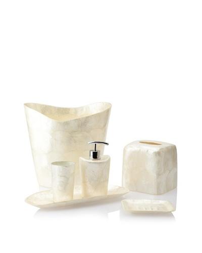 Pearl Dragon Organic Circular Layers 6-Piece Bathroom Set
