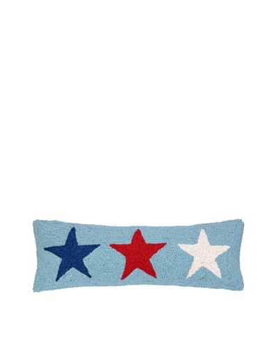 Peking Handicraft Americana Stars Hook Pillow, Blue/Red/White