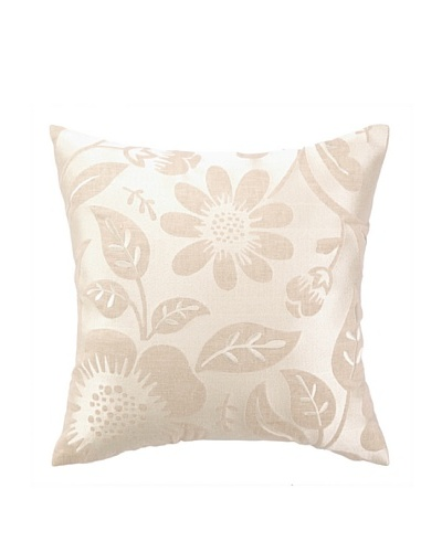 Peking Handicraft Acadia Pillow, Floral Grey