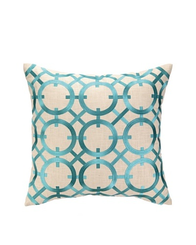 Peking Handicraft Parisian Lights Pillow, Turquoise