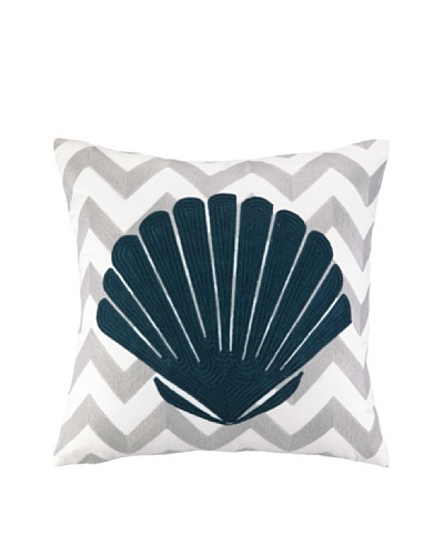 Peking Handicraft Seashell Embroidered Chevron Pillow