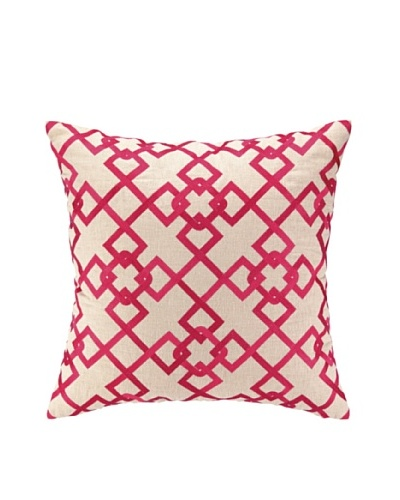 Peking Handicraft Chain Link Pillow, Pink