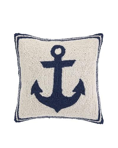 Peking Handicraft Blue Anchor Hook Pillow