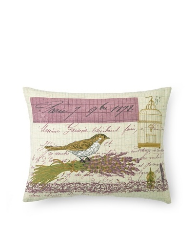 Peking Handicraft Lettre de Paris Pillow